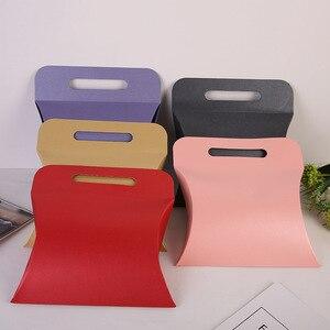 10 sztuk papieru pojemniki marka złoty poduszka box DIY prezent do włosów pasemka przedłużające peruka opakowanie papier do pakowania pudełka 20x19x6cm