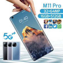 2021 Newest Galaxy M11 Pro 7.3 Inch Smartphone 10 Core 6800Mah 16+512GB 32MP+64MP Fual Screen Dual SIM 5G Android Mobile Phone