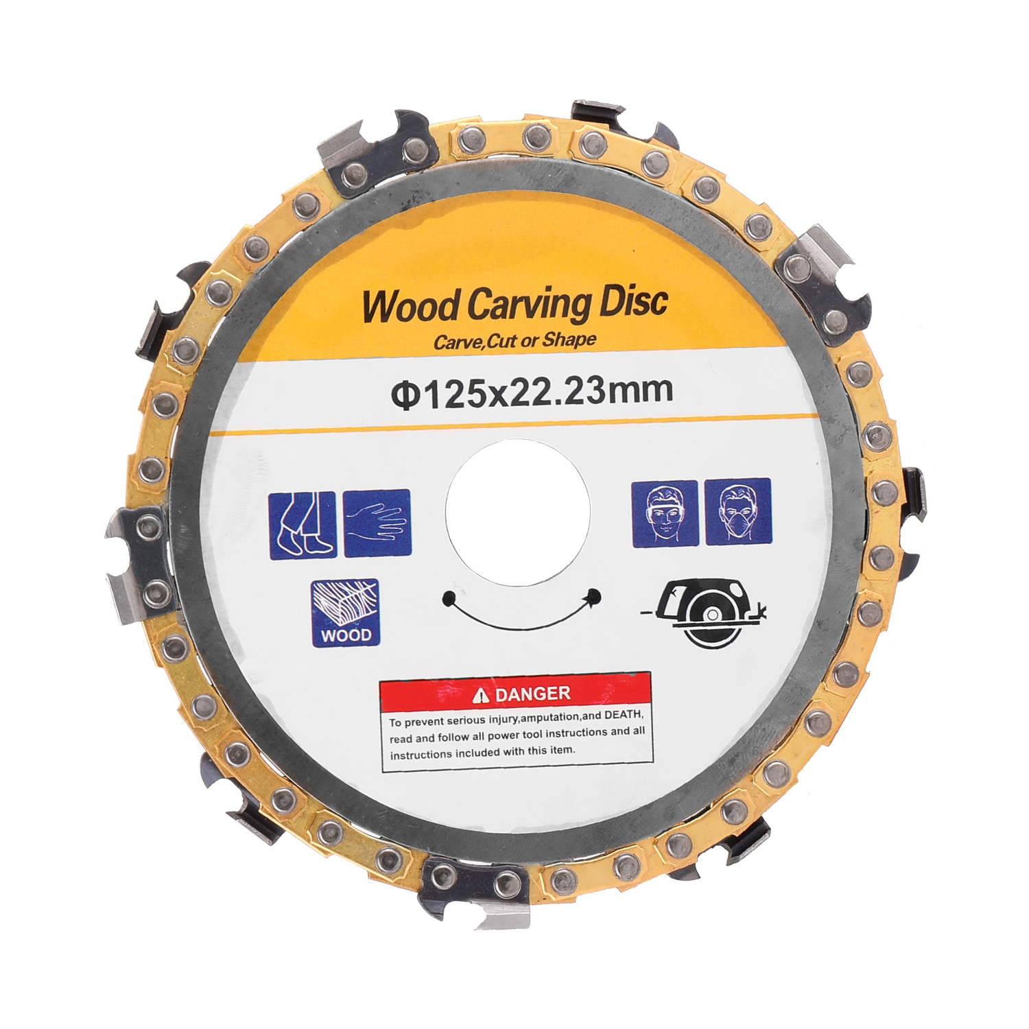 Woodworking Chain Grinder Chain Saws Disc Wood Carving Disc Chain Plate Tool Wood Disc Saw Blades Multitool Blades Cutting Disc
