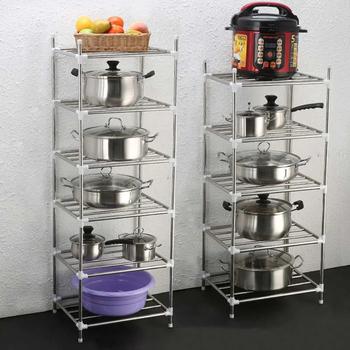 Organizer do kuchni stojaki akcesoria półki podłogowe stojaki na doniczki umywalka półeczki na drobiazgi stojaki na umywalkę naczynia kuchenne półeczki na drobiazgi tanie i dobre opinie CN (pochodzenie) Metal