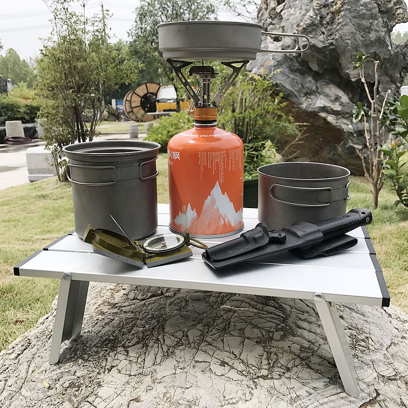 Lighten Up Collapsible Mini Table, Beach Table, Small Portable Folding Compact Tables, Bike Hike Camping Accessories - Keep Your