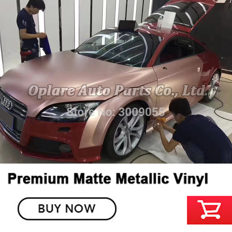 Top quality car wrap vinyl Wrap roll For Vehicle Wrapping matte metallic Vinyl Various color Easily repositioned Popular color|film gold|film for car|film wrapping - title=
