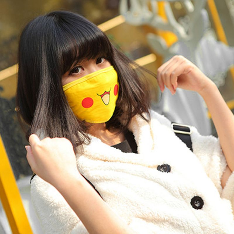 1pc Unisex Cute Anime Figures Cosplay Mouth Mask Kawaii Cartoon Print Mouth-Muffle