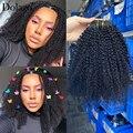 Mongolischen Afro Verworrene Lockige Clip Ins 7(10) stücke/set Clip In Menschliches Haar Extensions 120/200 gramm 3C 4A Volle Kopf Clip In Verlängerung