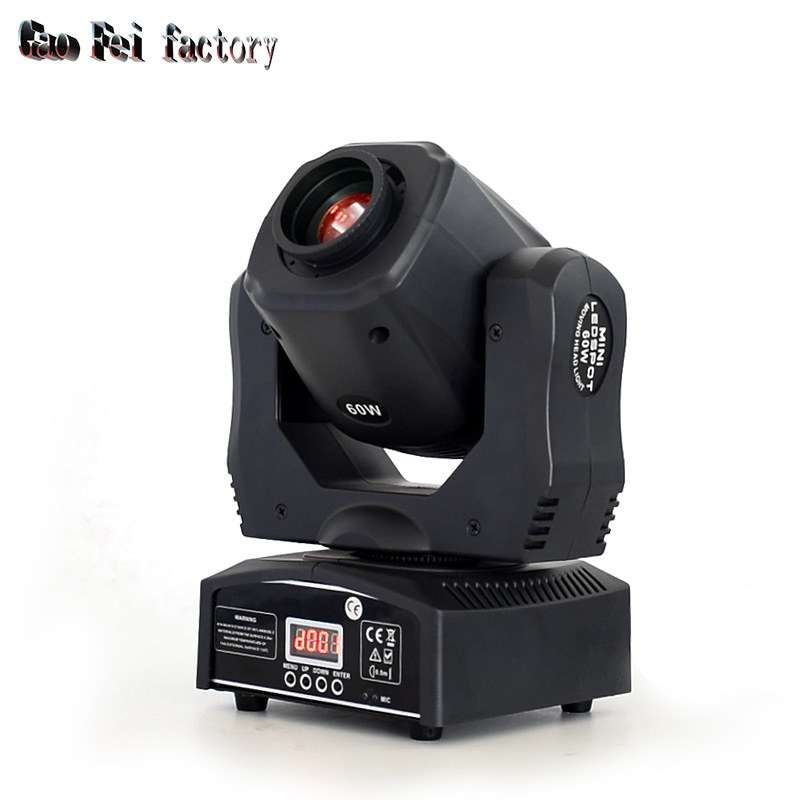High Brightness Dj Mini 60W Spot Moving Head Light Super Bright Dmx China Led Gobo Moving Heads For Club Bar Party Disco Show