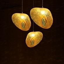 цена на Southeast Asia Wood Led Pendant Lights Art Decor Pendant Lighting Lamp Dining Living Room Restaurant Hotel Bedroom Hanging Lamp