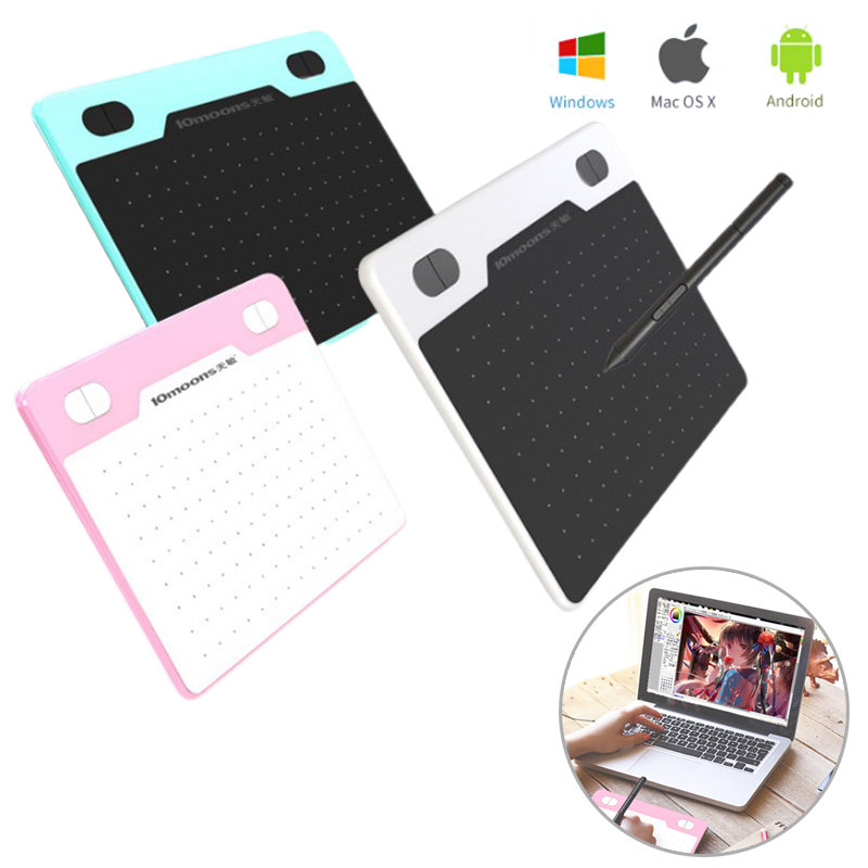 1Pcs Professional Graphics Drawing Tablet For PC With 8192 Levels Digital Pen Writing Board Pad For Mac OS Android Windows