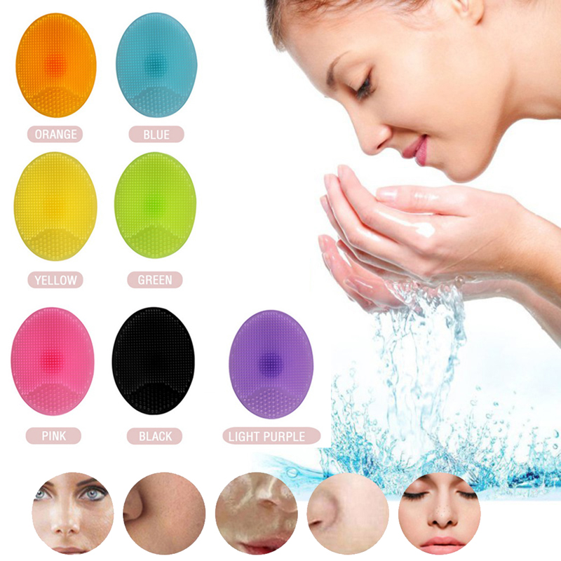 New Arrival Silicone Beauty Washing Pad Facial Brush CleanerExfoliating Blackhead Face Cleansing Tool Soft Deep Face Brushes