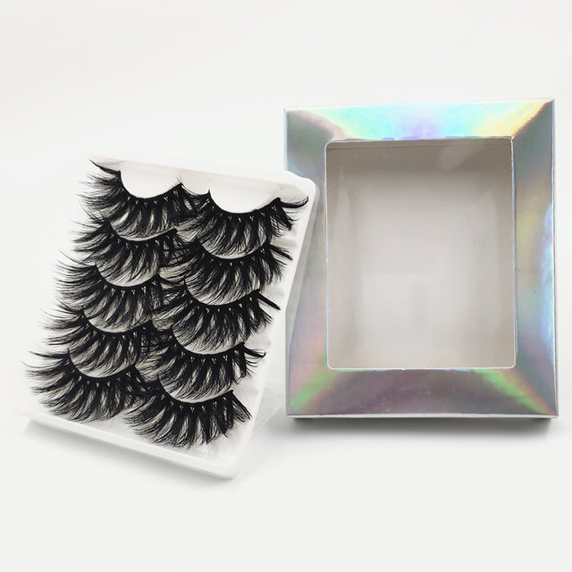 7 pairs 25 mm 3d mink lashes fluffy natural long false eyelashes,5 pairs Cruelty Free 22 mm 3d mink eyelashes Wholesale 4
