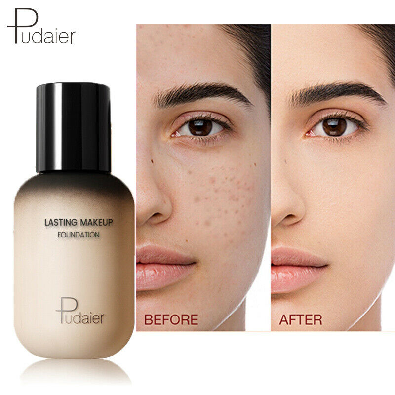 Pudaier 40ml Matte Makeup Foundation Cream Professional Concealing Base Liquid Face Concealer Long-lasting Cosmetic