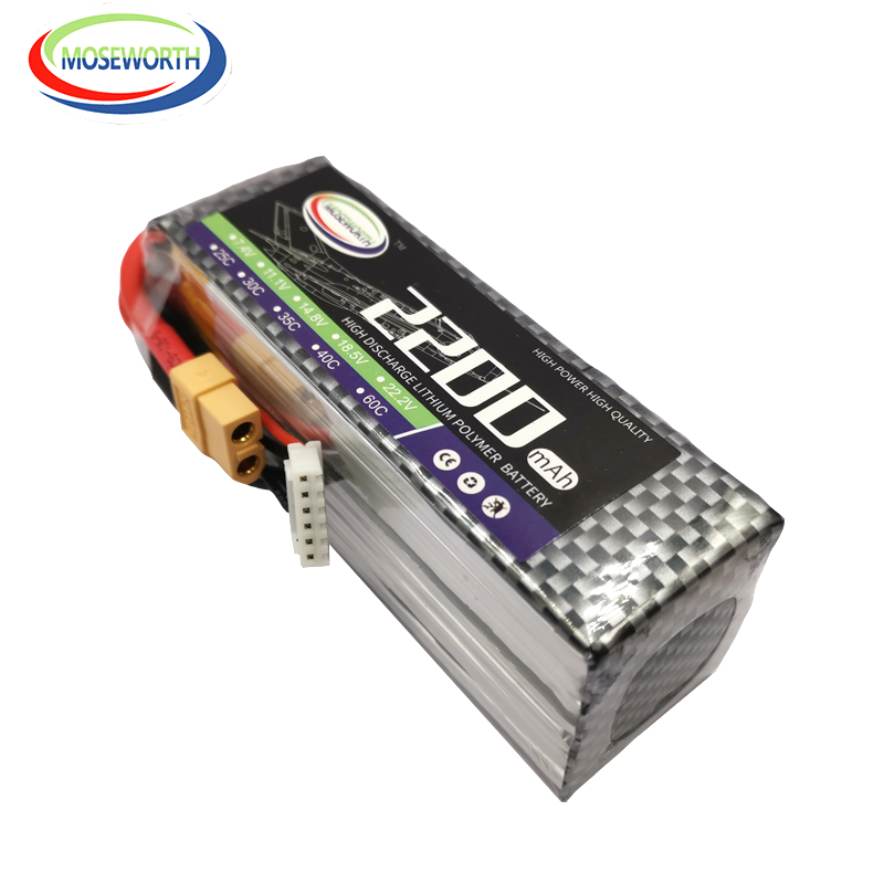 RC Toys <font><b>LiPo</b></font> Battery <font><b>6S</b></font> 22.2V <font><b>2200mAh</b></font> 40C And 60C For RC Airplane Car Boat Helicopter FPV Racer Drone Batteries <font><b>LiPo</b></font> <font><b>6S</b></font> AKKU image