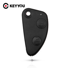 Keyyou 2 Knoppen Sleutel Shell Auto Flip Folding Remote Key Case Keyless Shell Cover Vervanging Voor Alfa Romeo 147 156 166 Gt