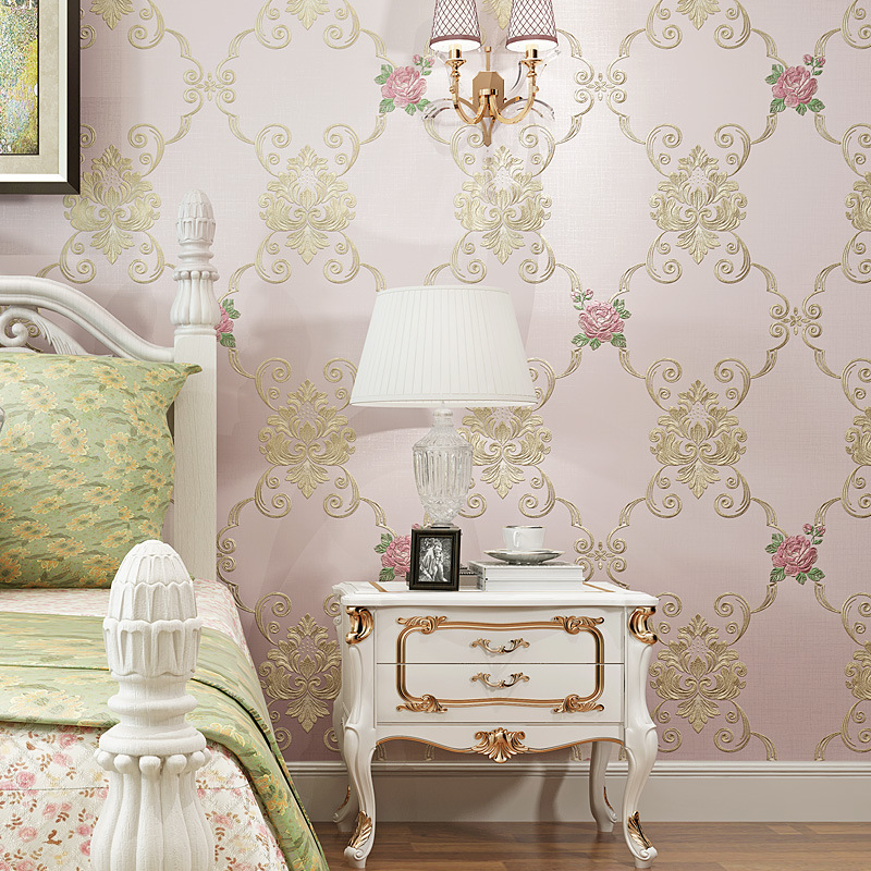 Manufacturers Direct Selling European Countryside Warm Nonwoven Fabric Environmentally Friendly Wallpaper Living Room Bedroom Ma