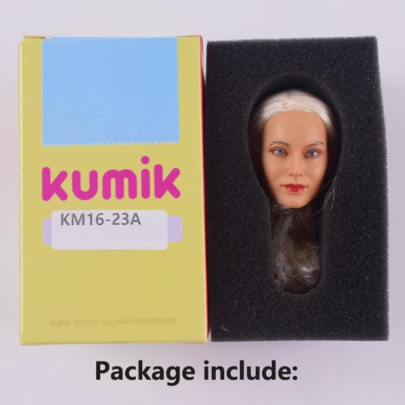 KUMIK 1//6 Female Head KM16-23A 2in.Sculpt Model PVC Fit Action Figure Doll