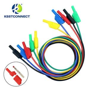 Image 1 - Fil de test en silicone flexible, de haute qualité, 13AWG, fil plaqué Nickel, fiche banane empilable, 4mm, TL440, 1.0 mètres