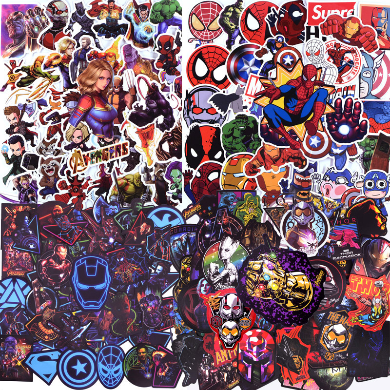 300 PCS Super Hero Avengers Stickers For Luggage Laptop Decal Skateboard Stickers Bike Motorcycle Fridge Bomb JDM Cool Sticker