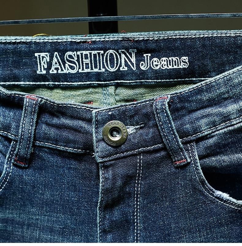 KSTUN Slim Fit Jeans Men Stretch Blue Fashion Mens Brand Jeans Casual Denim Pants Men's Clothing Male Long Trousers Wholesale 16