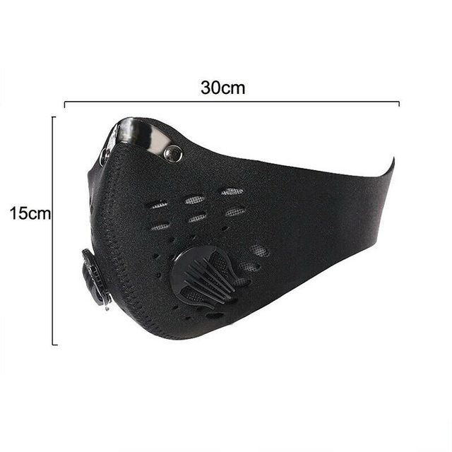 Anti Flu PM2.5 Cycling Face Mask Breathable Double Air Valve Bicycle Mouth Mask Dust Smog Windproof Reusable Bike Half Face Mask 3