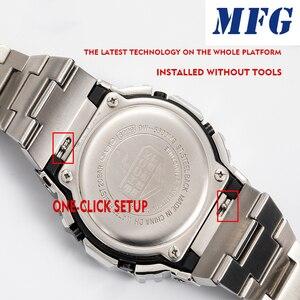 Image 2 - Kordonlu saat GWM5610 DW5600 saat kayışı kayışı durumda Metal paslanmaz çelik bilezik çelik kemer aksesuarları
