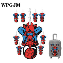 NEW A3 Marvel Anime Classic Stickers Toy for Laptop Skateboard Luggage Decal Waterproof Funny Spiderman Kid