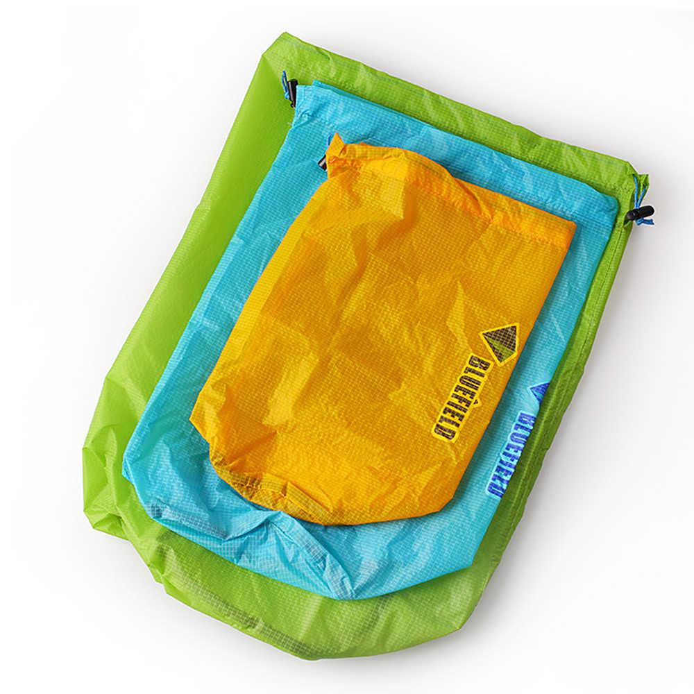 3 Pcs Tahan Air Bag Pack Karung Perjalanan Berkemah Kolam Arung Jeram Kayak Trekking Sungai Mengambang Berlayar Berkano Berperahu
