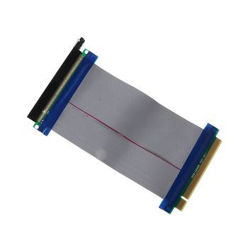 PCIe 16X PCI Express PCI-E 16X to 16X Riser Extender Card Adapter Flexible Cable E65A адаптер lenovo system x3550 m5 pcie riser 1 1xlp x16cpu0 00ka061 page 9