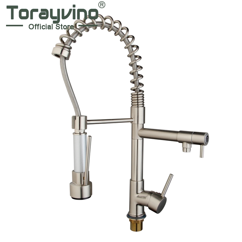 kitchen faucet pull out faucets  Modern Luxury Style Pull Out Spring Faucet Kitchen faucet Rotating Spout Mixer Kitchen Tap