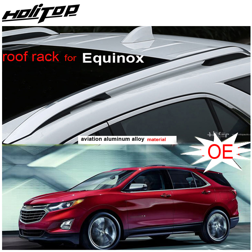 new arrival roof rack roof rail roof bar for chevrolet equinox 2018 2019 2020 aviation aluminum alloy 2pcs asia free shipping