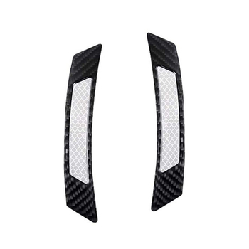 2pcs/set Car Reflective Stickers Fender Flare Protector Carbon Fiber Wheel Eyebrow Trim Lips Auto Exterior Accessories Decor image