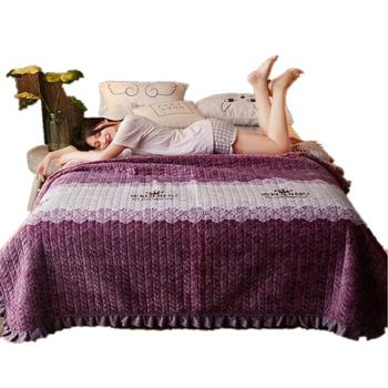 38 funda de cama púrpura para amantes de la hoja de loto cubrecama de encaje edredón de cama súper doble manta para adultos/niños cubierta de cama púrpura antiestática