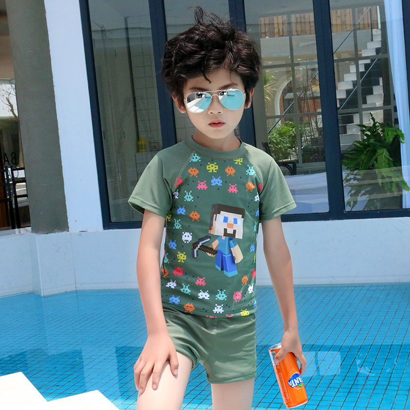 Chang Ning 2019 New Style Children Boxer Cartoon Paul Frank Cool Split Type Joint Swimming Suit