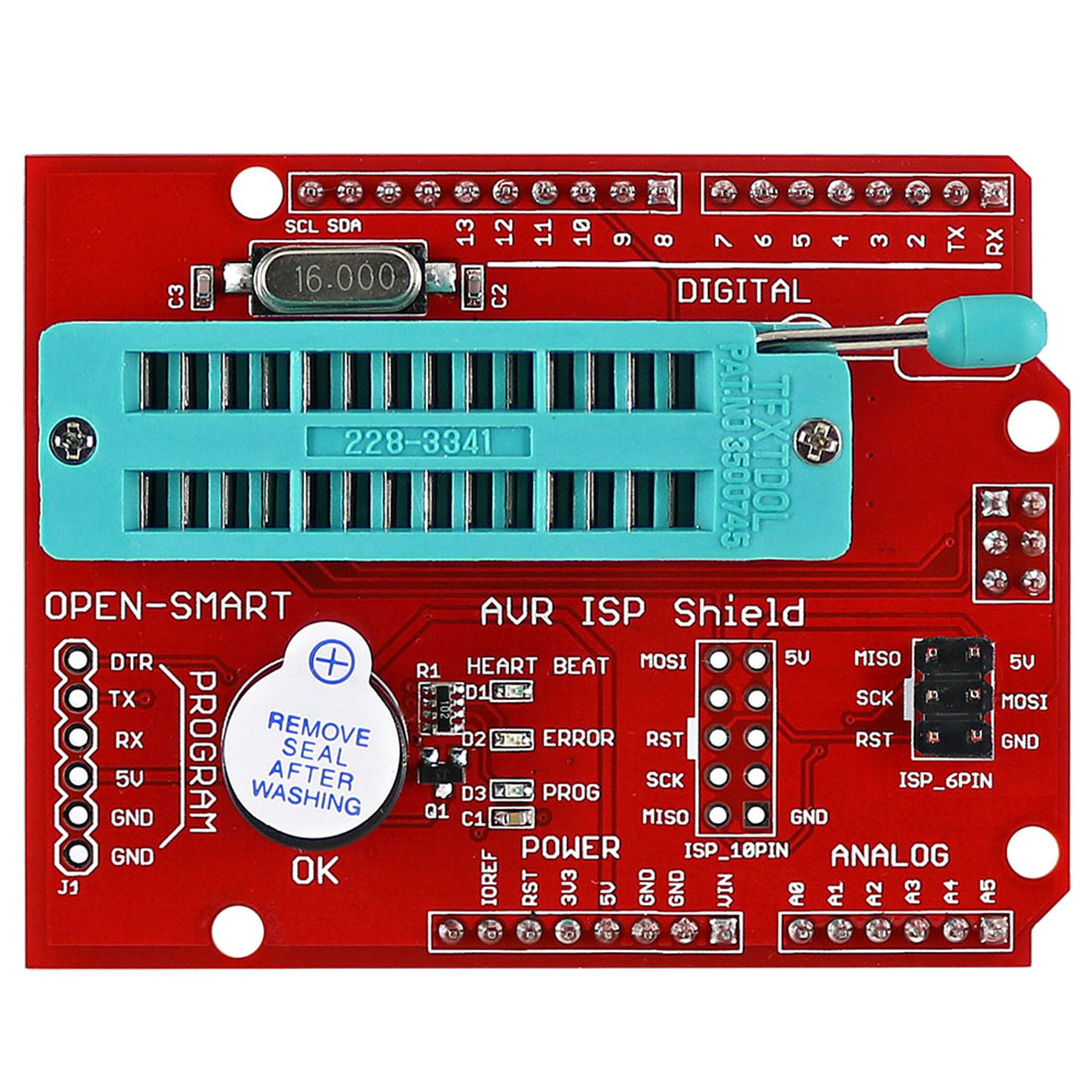 AVR ISP Shield Burning Bootloader Programmer For Arduino UNO R3  Programable Toys Accessories