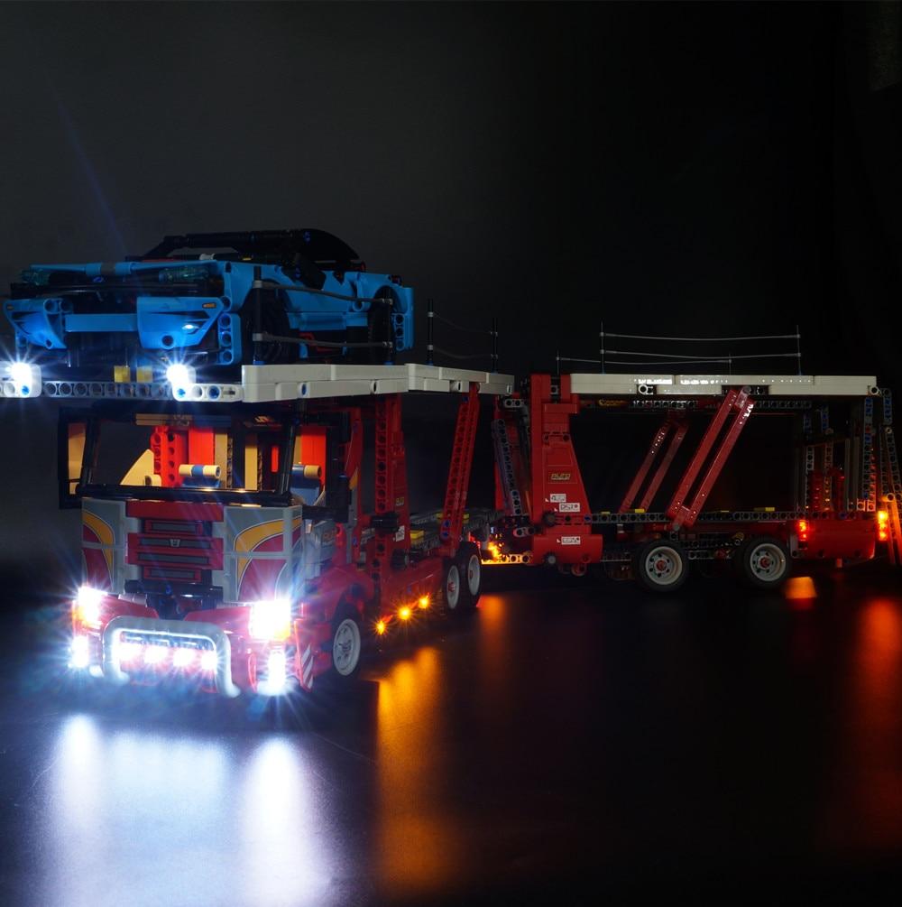 Kit de luz led Kyglaring para transportador de coche Technic 42098 (el conjunto de coches no está incluido)-in Bloques from Juguetes y pasatiempos    1