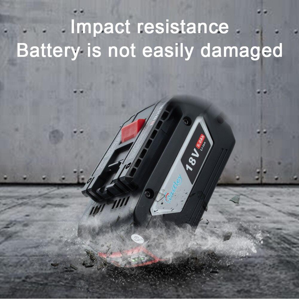 Waitley 18V 6.0A Rechargeable Li-ion batterie pour Bosch 18V outil électrique de secours 6000mah Portable remplacement BAT609 indicateur lumineux - 3