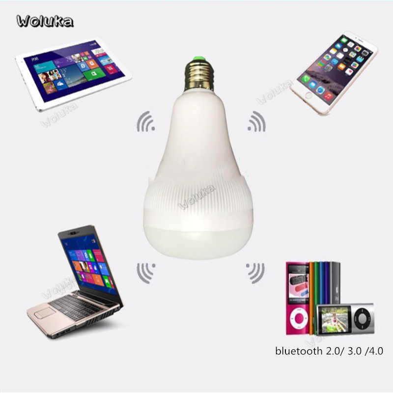 RGBW LED E27 85-265V Wireless Bluetooth Smart Bulb Audio Speaker Music Playing Dimmable Lamp with 24 Key Remote Control CD50 W05