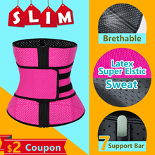 цены ROEGADYN Loss Sweat Band Wrap Fat Sports Waist Trimmer Belt For Women Waist Trimmer Breathable Fitness CrossFit Waist Support
