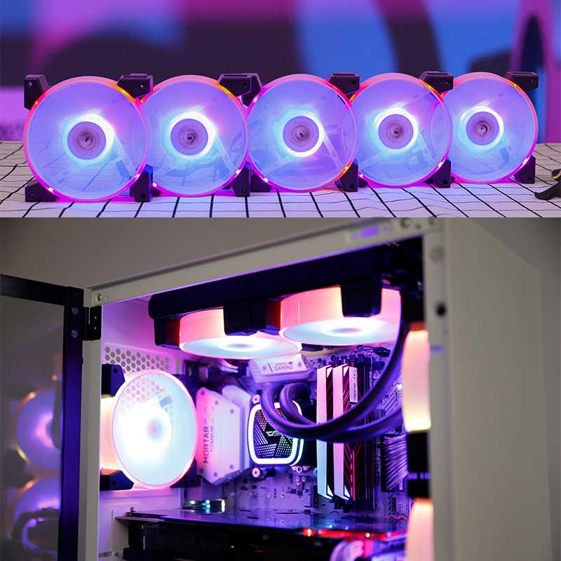Aigo C7 PC ventilateur de tour d'ordinateur RGB ventilateur 120mm ventilateur refroidisseur refroidissement silencieux à distance Aura synchronisation radiateur ajuster CPU ordinateur ventilateurs