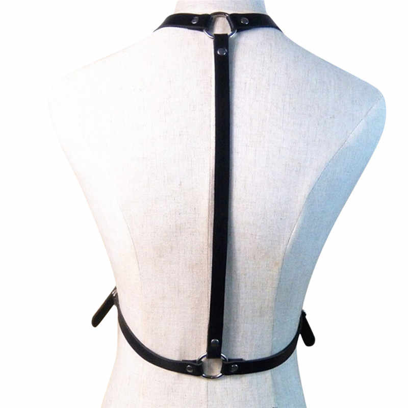 1pc Donne Sexy Uomini Maturi Signore In Pelle Regolabile Corpo Chest Harness Cintura nera Punk Costume di Fantasia Accessori di Abbigliamento