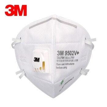 5 uds. 3M 9502V + máscara antipolvo máscara para polvo plegable Anti-pm2.5 respirador máscaras antiniebla máscara de seguridad