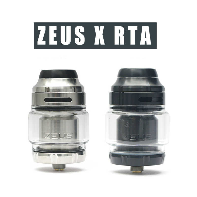 Zeus X RTA  vape tank 4.5ml tank capacity with 810 Delrin drip tip Electronic cigarette atomizer