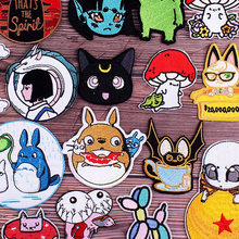 Embroidered Patch Spirited Away Patch Iron On Patches On Clothes DIY Hot Anime Stripes Cute Cartoon Patches Patches For Clothi