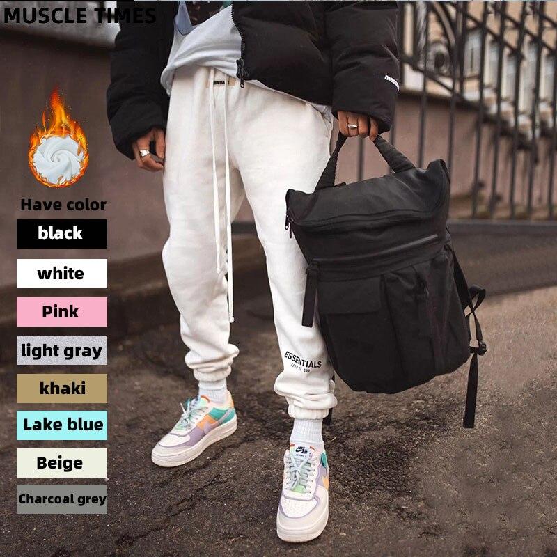 2020 лучшее качество, противотуманные базовые штаны с принтом логотипа для женщин и мужчин, брюки для бега, спортивные штаны, хип-хоп, уличная ...