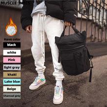 2020 en kaliteli sis Essentials Logo baskılı kadın erkek koşu pantolonu Sweatpants Hiphop Streetwear gevşek Fit erkekler Casual pantolon