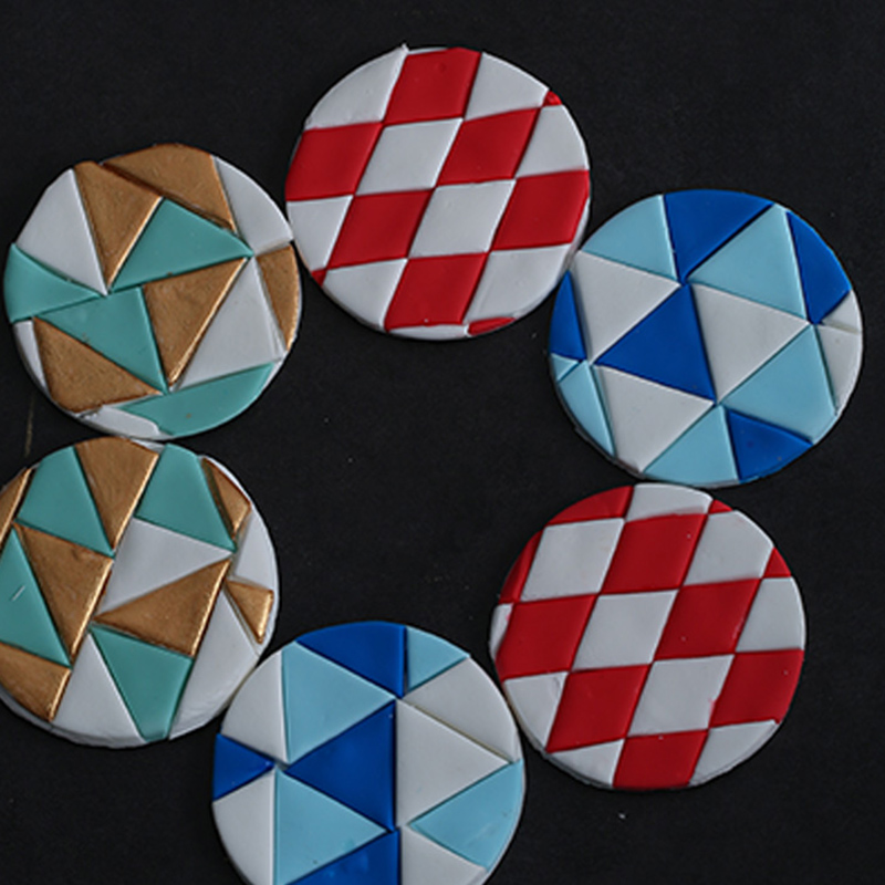 3pcs Plastic Clay Cutter Hexagon/Round/Square/Fish Scales Geometric Shape Cutting Mold Designer Diy Earring Polymer Pottery Tool|Pottery & Ceramics Tools|   -