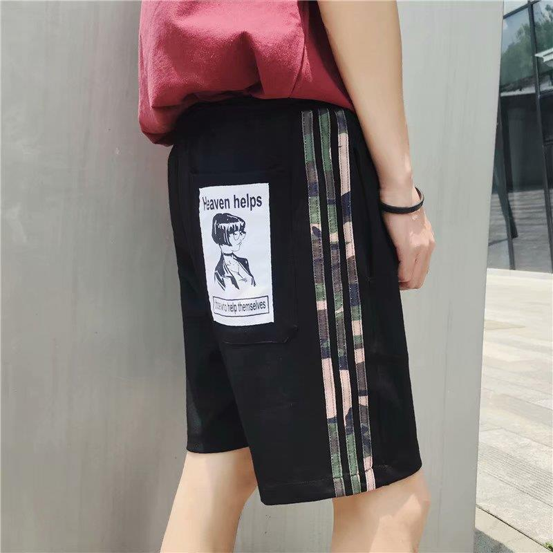 2019 Spring Korean-style New Style MEN'S Casual Pants Avatar Shorts/Shorts Basic Men's Youth Popularity Pants