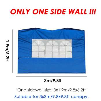 1PC 3x3m Tent Side Panel Enclosure Waterproof Gazebo Sunshade with Window Oxford Cloth Material Outdoor