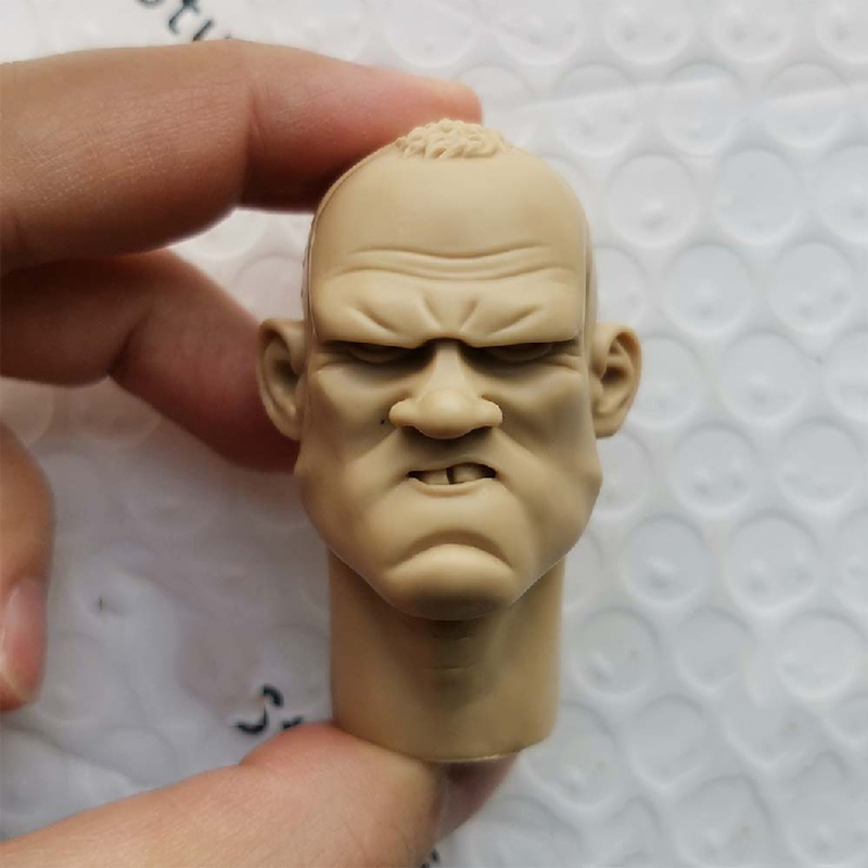 1/6 <font><b>Gangsters</b></font> <font><b>Kingdom</b></font> Unpainted Head Models Cartoon Comic Version for 12''Figures Bodies Accessories DIY image