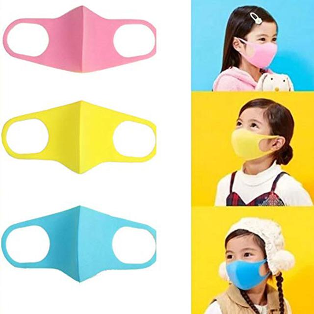 1pcs Children Face Masks PM2.5 For Kids Anti Dustproof Smoke Pollution Masks with Earloop Washable Respirator Mouth Cover