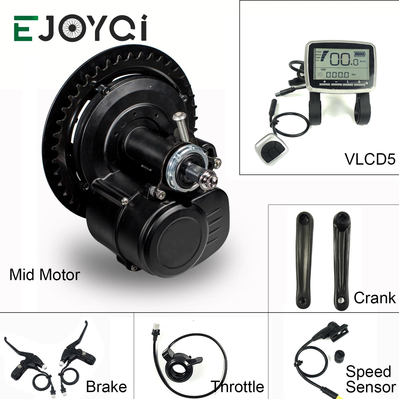 EJOYQI Tongsheng TSDZ2 DIY Conversion Ebike Mid Drive Kit 36V 48V 250W 350W 500W Motor Torque Sensor Electric Bicycle Bike Motor