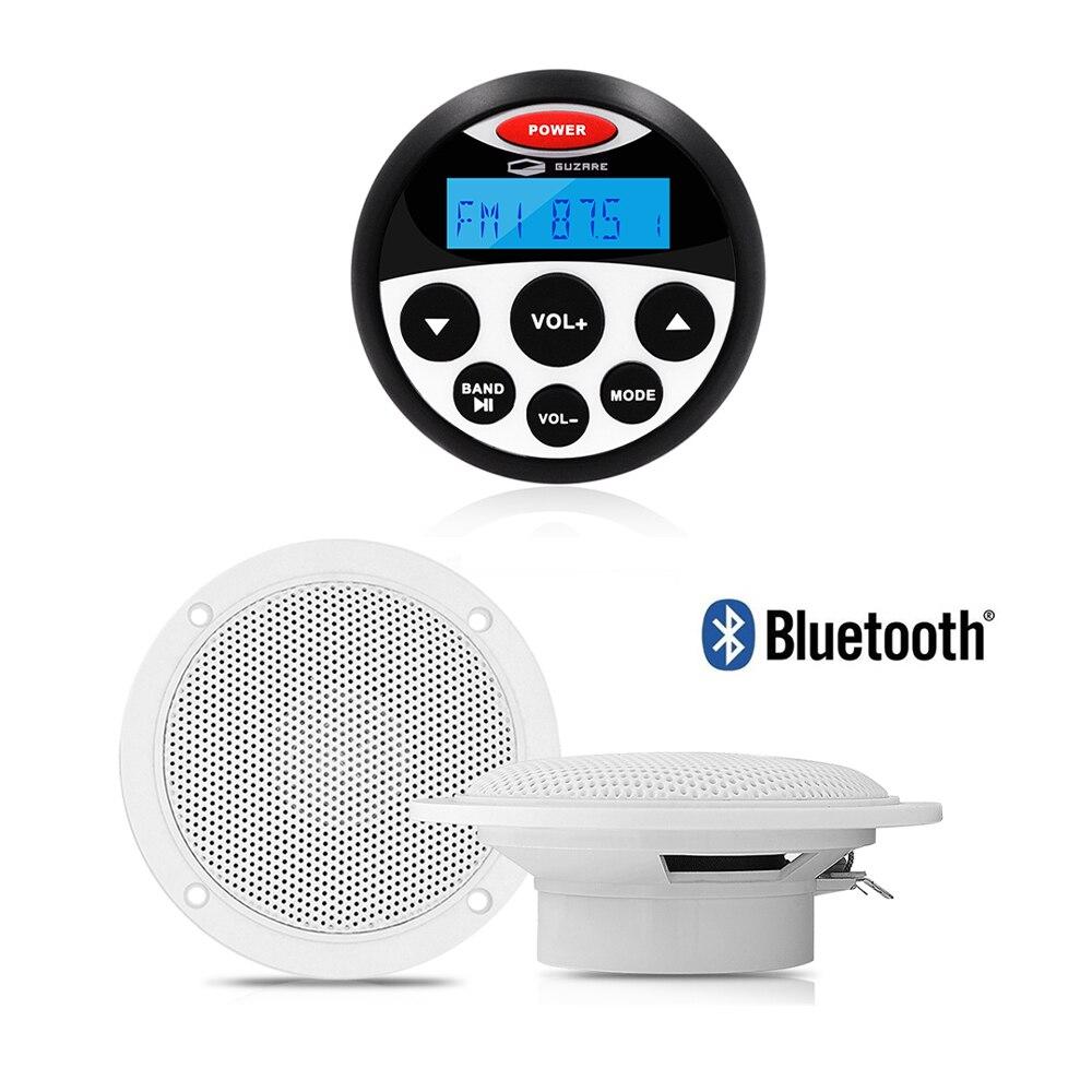 Морской Bluetooth стерео аудио система радио FM AM приемник MP3 плеер + 4 дюйма Водонепроницаемый морской динамик для UTV ATV лодка мотоцикл